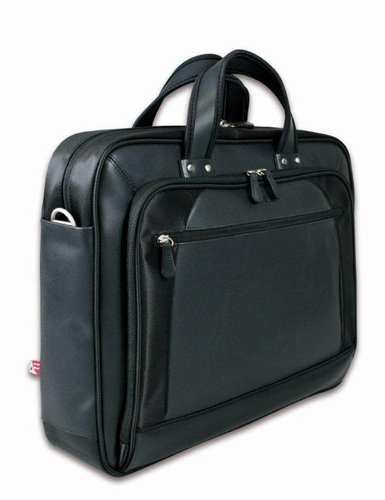 DUBAI 13-14 Inch Twill and leather laptop bag