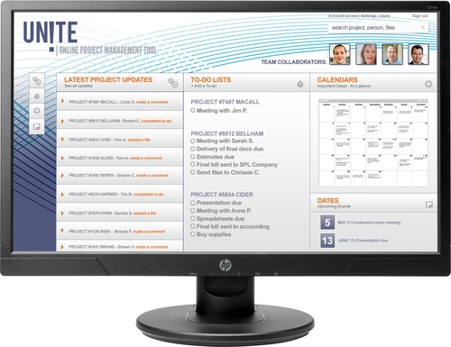 HP V214a 20.7-inch Monitor - Aspect Ration 16:9 Res 1920x1080 Ports 1xVGA 1X HDM...