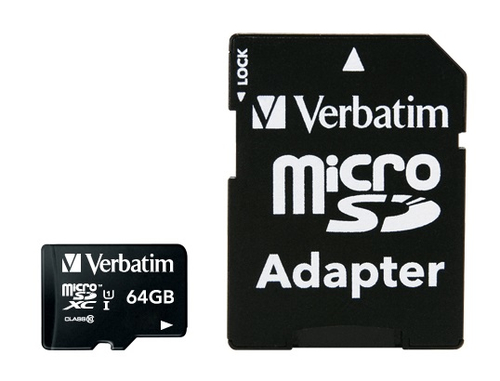 VERBATIM - 64GB MICRO SDXC PLUS ADAPTOR
