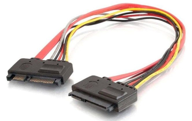 DELL C2G - 7 PIN SERIAL ATA CABLE-50 CM-RED