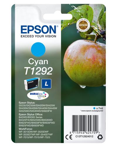 EPSON - INK - T1292 - CYAN - APPLE - STYLUS SX425W / SX525WD / BX305F / BX320FW ...
