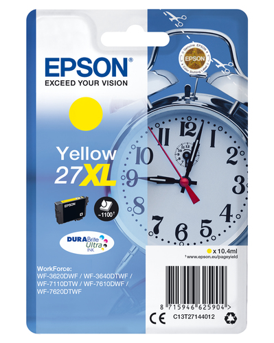 EPSON Singlepack Yellow 27XL DURABrite Ultra Ink
