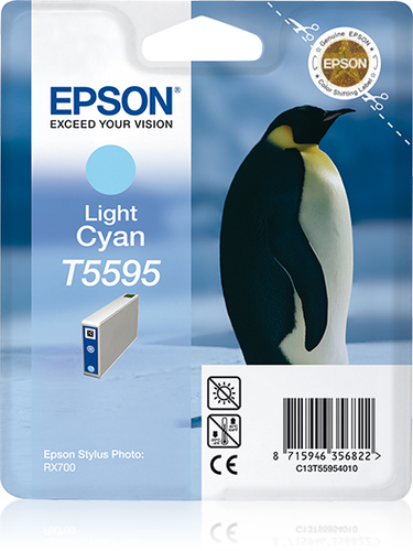 EPSON - INK - T5595 - LIGHT CYAN - PENGUIN - STYLUS PHOTO RX7000
