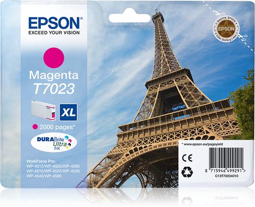 EPSON - INK - T7023 - MAGENTA XL - EIFFEL TOWER - WP4000/4500