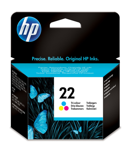 HP # 22 TRI-COLOUR INKJET PRINT CARTRIDGE (5ML)