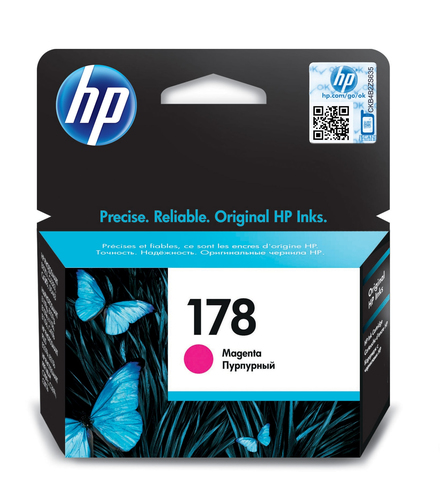 HP # 178 MAGENTA INK CARTRIDGE WITH VIVERA INK - OfficeJet B8553 C5383 Photosmar...