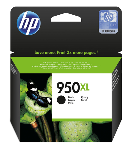 HP # 950XL BLACK OFFICEJET INK CARTRIDGE - OfficeJet Pro 8100 ePrinter series Of...