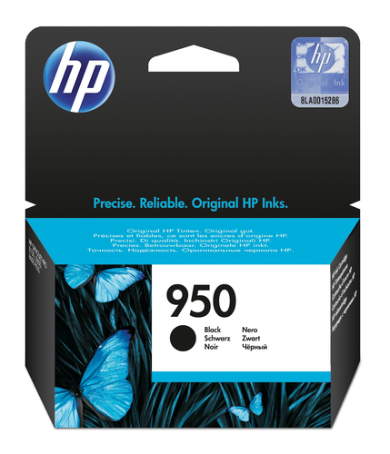HP # 950 BLACK OFFICEJET INK CARTRIDGE - OfficeJet Pro 8100 ePrinter series Offi...