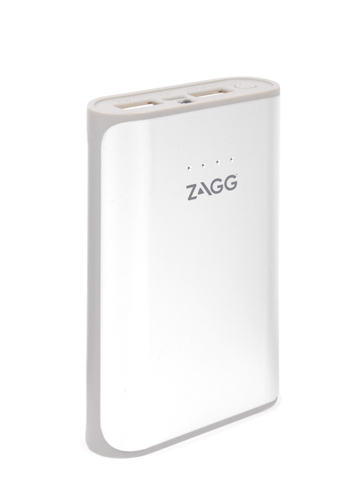 Zagg Ignition 6 Power Bank 6000 MAh Capacity with Flash Light - Output voltage 5v, Dual USB outputs (5V/2.1A and 5V/1A), Built-in flash light - White, Retail Box , 1 year Limited Warranty