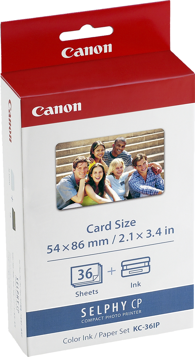 CANON - INK & PAPER SET CARD SIZE FOR 36 PRINTS