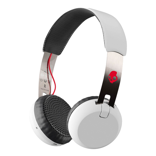SKULL GRIND BT ON-EAR - WHITE/BLACK/RED