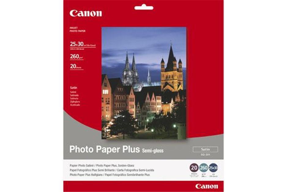 CANON - INKJET PHOTO - PAPER SG-201 10X 12 (1 BOX OF 20 SHEETS SEMI-GLOSS)